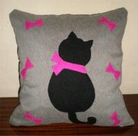 Gatos en cojines y mas on pinterest cat pillow cat - Cojines de gatos ...