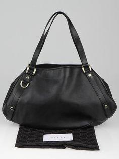 Gucci Black Leather Medium Abbey Tote Bag - Handbags - GC130809A
