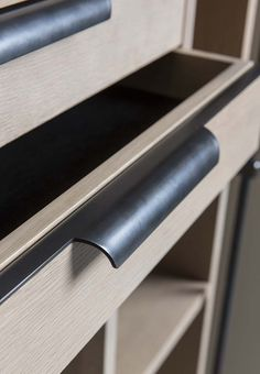 The Collector's Bookcase - Amuneal: Magnetic Shielding & Custom Fabrication Cabinet Door Handles, Kitchen Handles, Drawer Handles, Furniture Handles, Furniture Hardware, Joinery Details, Hotel Room Design, Bookcase Shelves, Shelving
