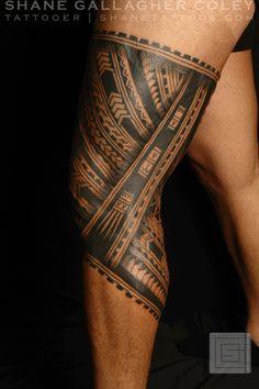 MAORI POLYNESIAN TATTOO: Polynesian Leg Tatau/Tattoo