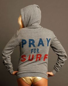 UNISEX PRAY FOR SURF HOODIE | Aviator Nation