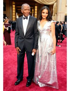 Sidney Poitier  His Daughter Sydney Tamiia - The Oscars 2014: red carpet pictures | ELLE UK