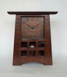 Craftsman Clocks, Craftsman Style Decor, Craftsman Interior, Craftsman Furniture, Craftsman Homes, Arts And Crafts Furniture, Arts And Crafts House, Wood Clocks, Antique Clocks