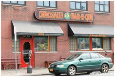 Outside of Dinosaur Bar-B-Que in Syracuse, NY