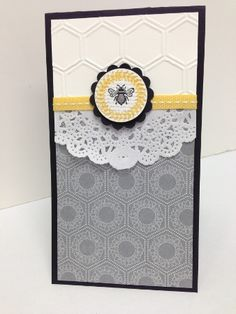 Stampin' Up! Collage Curios stamp inside the hexagon