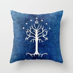 The White Tree Throw Pillow by Jackie Sullivan - $20.00