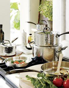 Fleischer and Wolf Seville Hammered Stainless Steel 10-Piece Cookware Set