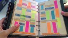 Filofax Organization- August 2014 preplanning in a graph paper notebook