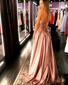 Simple A Line Spaghetti Straps Purple Prom Dresses Long Split Front Pretty Prom Dresses, Hoco Dresses, Gala Dresses, Satin Dresses, Elegant Dresses, Sexy Dresses, Beautiful Dresses, Formal Dresses, Dress Prom