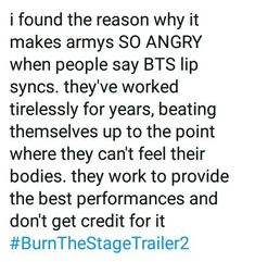 Yeah they work hard giving all of there best there blood sweat and tears into making great music they don't deserve people saying things like that about them