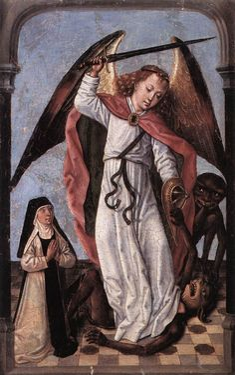 St Michael fighting demons