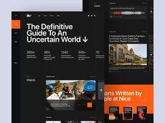 Nice Media - Landing Page by Muh Salmon Best Ui Design, Ui Ux Design, Interface Design, Web Layout, Layout Design, Ui Design Inspiration, Dashboard Design, Ui Web, Landing Page Design