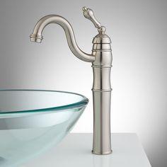 Trevena Single-Hole Vessel Faucet with Pop-Up Drain - Vessel Sink Faucets - Bathroom Sink Faucets - Bathroom