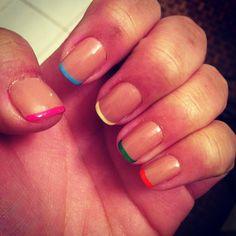 my springtime French manicure