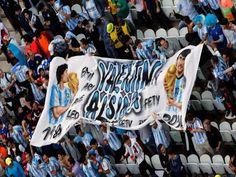 Valentin Alsina presente... 9 julio de 2014 ... Mundial Brasil 2014... Semifinal Argentina vs Holanda. Estadio Arena Corinthians. San Pablo.