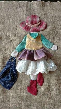 Ulla's Quilt World: Quilt bag - Japanese patchwork Wool Applique, Applique Patterns, Applique Quilts, Applique Designs, Embroidery Applique, Quilt Patterns, Embroidery Designs, Sewing Patterns, Hand Applique