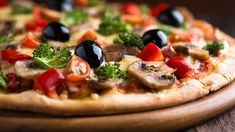 Pizza with Olives HD 1080p Wallpap54654ers Download