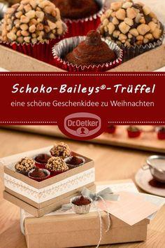 Schoko-Baileys®-Trüffel: Schokoladige Pralinen, eine schöne Geschenkidee zu Weihnachten #advent #praline #weihnachten
