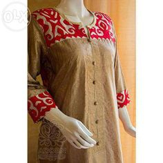 applique designs for kurti
