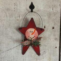 Primitive Snowman Ornament Snowman Ornament by FlatHillGoods                                                                                                                                                                                 More