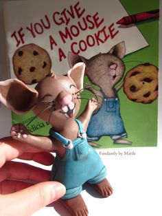 """My cake topper based on the book """"If You Give A Mouse A Cookie"""""""