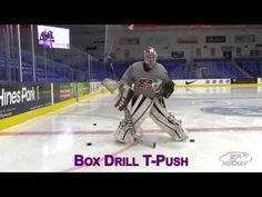 Development standing movement skills for goaltenders. Hockey Drills, Hockey Goalie, Hockey Training, Golf Bags, Skating, Sports, Youtube, Architecture, Hs Sports