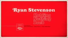 Ryan Stevenson - Holding Nothing Back (Lyric Video) — debut single on Gotee Records released May 21, 2013