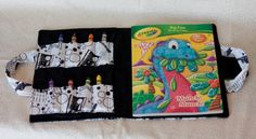 Coloring book and crayon caddy by JustWantedToTellYou on Etsy, $18.00