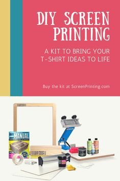 The DIY Print Shop™ Original T-Shirt Screen Printing Kit will bring all your T-Shirt ideas to life and can turn fun into profit. Whether you're a beginning screen printer, starting a small business, or simply screen printing for fun, the DIY Print Shop™ Original T-Shirt Kit is Made To Make It™ happen. Learn more at ScreenPrinting.com. Diy T Shirt Printing, T Shirt Diy, Printed Shirts, Screen Printing Press, Screen Printer, Make Your Own Tshirt, Cleaning Screens, Green Galaxy, Creative Christmas Gifts