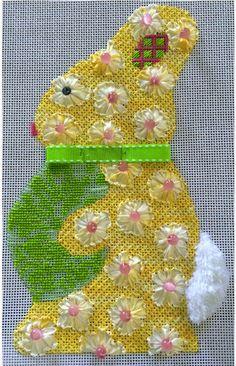 melissa shirley rabbit profile needlepoint canvas