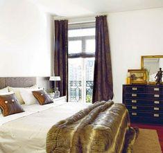 22 wunderschöne Ideen für dekorative Vorhänge zu Hause - dunkle vorhänge schlafzimmer behaglich weiß wände