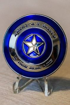 Captain America Police A Thin Blue Line Blue Lives Matter Challenge Coin NYPD