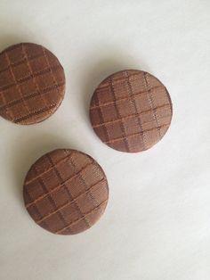 Ridged Brown Fabric Pinback Button Pantone by BertramBergamot, $5.00