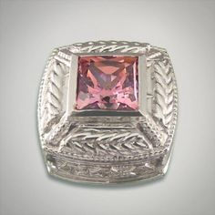 Sterling silver fancy pink cubic zirconia for Caerleon interchangeable jewelry Designer:Goldman-Kolber $ 100.00 Item #: 5VPJNF Call 870-863-8818 for personal consultation.