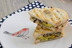 Pesto-Roasted Veggie Sandwiches // an easy, light meal