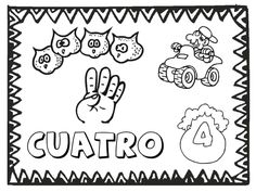 FREE numbers 1 to 12 in Spanish coloring pages from PrintableSpanish.com