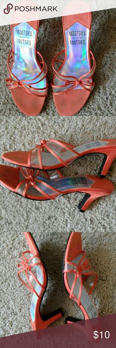 Nice shoes Beautiful orange shoes are perfect for an evening out!  From the Mooties Tootsies collection. Shoes Heels