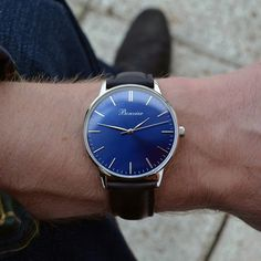 Classic Blue on the wrist. Free shipping worldwide - www.bonvier.com #bonvier #watches #orologi