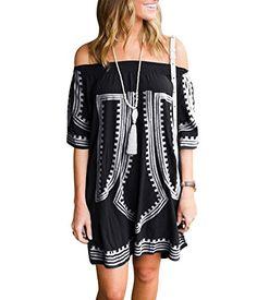 Hot selling 2017 summer bohemian dress patterns casual sexy beachwear vibe  geometric print off the shoulder dresses women e6efbc1a3