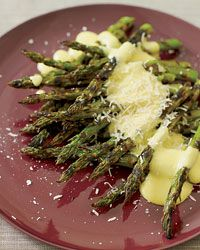 Grilled Asparagus with Pepper Zabaglione // More Vegetables: http://www.foodandwine.com/slideshows/roasted-vegetables #foodandwine