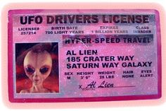 Ufo drivers license shared by x ️I z G O L D x Alien Aesthetic, Pink Aesthetic, Aesthetic Space, Vaporwave, Aliens And Ufos, Light Year, To Infinity And Beyond, Out Of This World, Oeuvre D'art