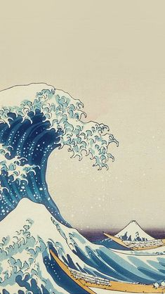 wave art hokusai painting classic art-illustration plus wallpaper Homescreen Wallpaper, Iphone Background Wallpaper, Iphone Wallpaper Japanese Art, Homescreen Tumblr, Waves Wallpaper Iphone, Aot Wallpaper, One Piece Wallpaper Iphone, Aesthetic Pastel Wallpaper, Aesthetic Wallpapers
