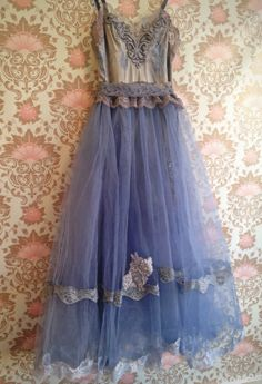 steel blue grey charcoal muted lavender by mermaidmisskristin-- love the covering top Slip Dresses, Prom Dresses, Formal Dresses, Upcycled Clothing, Steam Punk, Refashion, Pretty Dresses, Blue Grey, Fashion Inspiration