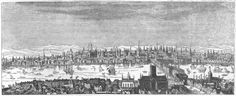 London, before the great fire, from a print by Hollar