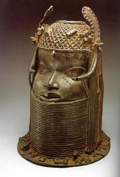 ca. 1700-1897 Bust of Benin King or Oba. cast bronze or brass. Restoration Period   Nigeria. National Museum of African Art, Wash. D.C.