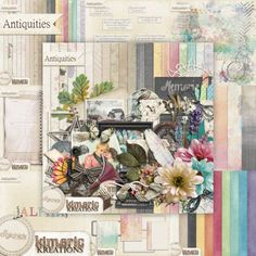 kimeric kreations: Antiquities - New this week! and a beautiful frame cluster for you :)
