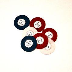 DIY Customized Poker Chips  Casino Night DIYs {+ Printables} ~ Dana Renee {Style}