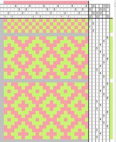 rosepath draft - Weaving pattern