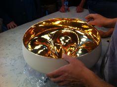 Marset -Pleat Box suspension lamp at Xavier Mañosa ceramics atelier. Craft