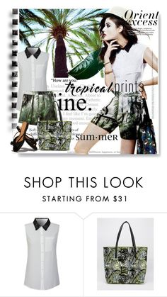 """""""Hot Tropics"""" by lacas ❤ liked on Polyvore featuring Dries Van Noten, Nicole, Paul's Boutique, The Row, tropicalprints and hottropics"""